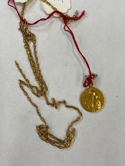 Chaine en or jaune et un pendentif 8 grs