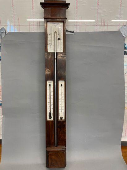 Baromètre en acajou  H : 103 cm