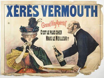 Xeres Vermouth, Lemercier  100 x 150 cm  (manque...