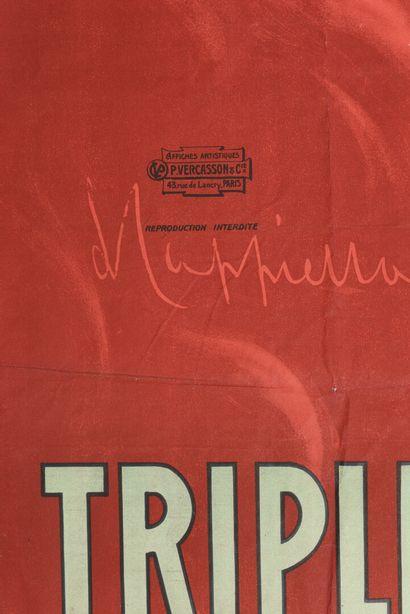 CAPPIELLO Triple sec Fournier, Vercasson  Cachet  120 x 160 cm  manques à la marge,...