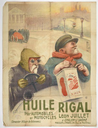 Noël DORVILLE, Huile Rigal  Charles WALL  160 x 120 cm  (pliure, petit trous, légères...