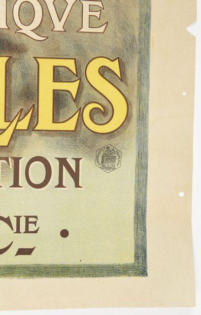 François FLAMENG, Paris Expo 1900, le guide Hachette et Cie  120 x 80 cm