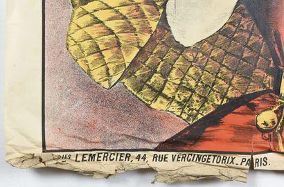 Xeres Vermouth, Lemercier  100 x 150 cm  (manque important, déchirures, froissu...