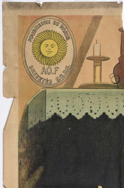 CHOCARNE MOREAU, Fourneau le Rustique, Bouquet & Barry timbre et cachet  160 x 100...