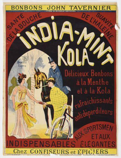 India mint kola  80 x 60 cm  (petites déchirures,...