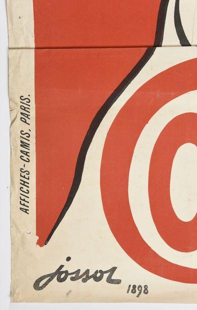 JOSSOT, Guignolet Cointreau, 1898  130 x 100 cm  (déchirures et manque à la marge,...