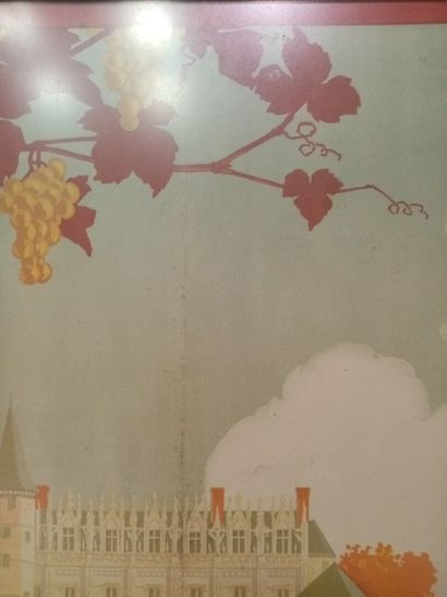GEO DORIVAL, Château d'Amboise, 1913  104x74 cm  Encadrée, collée sur un carton...