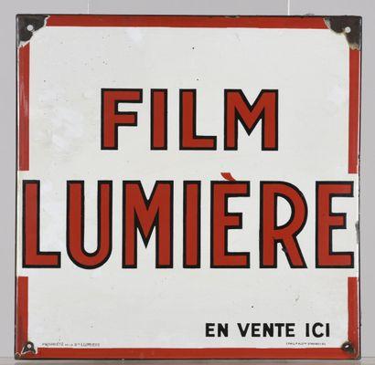 Film Lumière plaque émaillée carré  40 x...