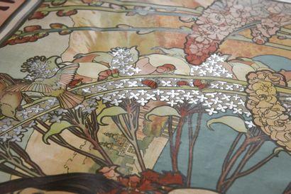 MUCHA Monaco, Monte Carlo, imp Champenois  110 x 76 cm  (légères rousseurs, pliures,...