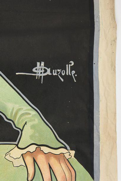 M AUZOLLE, Banyuls-Trille quinquina, Perpignan-Bordeaux  Vercansson  140 x 100 cm...