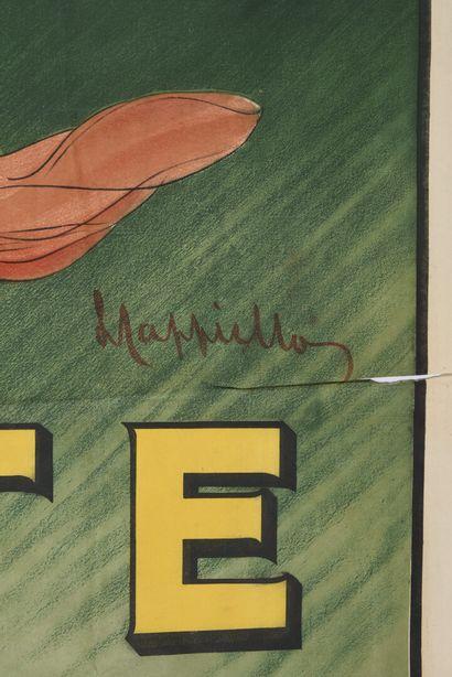 CAPPIELLO, Zeste,, Vercasson, cachet  Déchirures marginales, traces  120 x 160 ...
