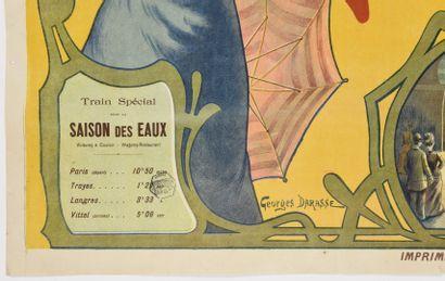 Georges DARASSE, Vittel Vosges  105 x 75 cm  (déchirures marginales, trous de p...