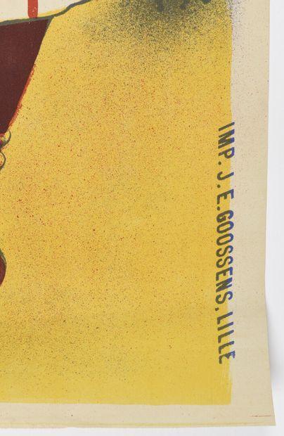 Négrita, Rhum Goosens 120 x 90 cm  (légèrement gondolée, légères déchirures)