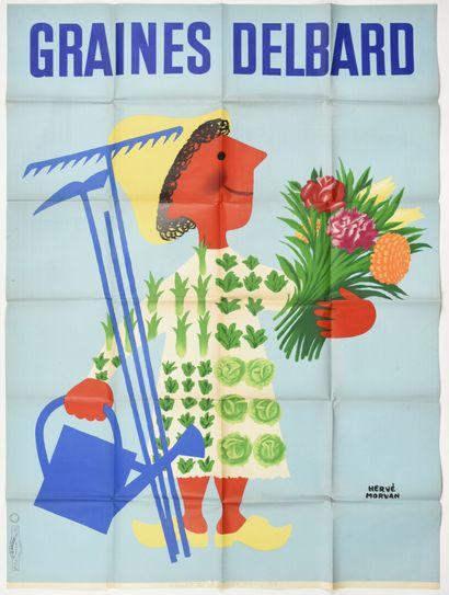Hervé MORVAN  GRAINES DELBARD. 1956  Ets...