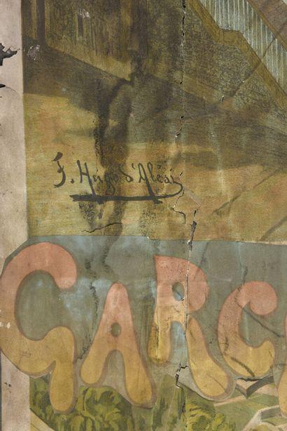 Ugo D'ALESSI  Garches et l'ancien casino et Rueil  Deux affiches contracollée sur...