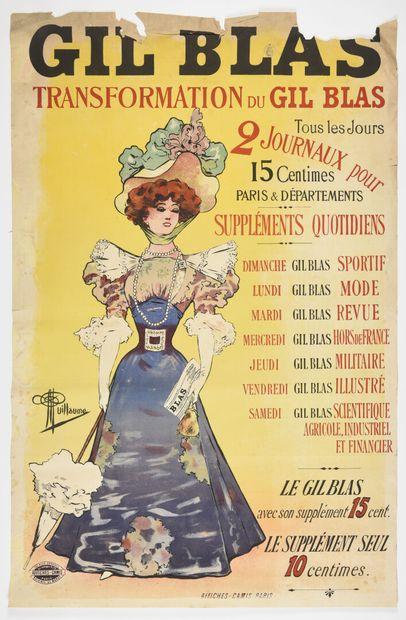 Guillaume, Gil Blas, Camis  140 x 90 cm  (déchirures,...