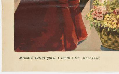 BOUDON, les thermes de Dax PECH  100x 75 cm  (pliures, tâches à la marge)