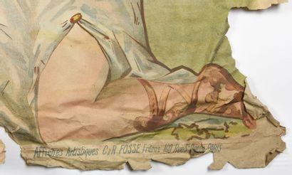 H GERBAULT, Saint Raphael, quinquina, Camis  Cachet  (pliures, déchirures, manques)...