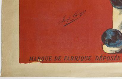 Triple sec Cointreau,  Camis  130 x 100 cm  (manques et déchirures)