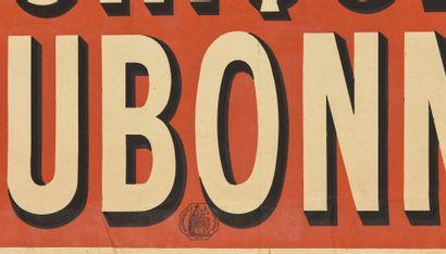 Quiquina Dubonnet  Charles Verneau  80 x 60 cm  cachet  (légères déchirures à la...