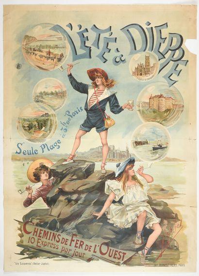 ZAPHEL, L'été à Dieppe chemin de fer de l'Ouest,...