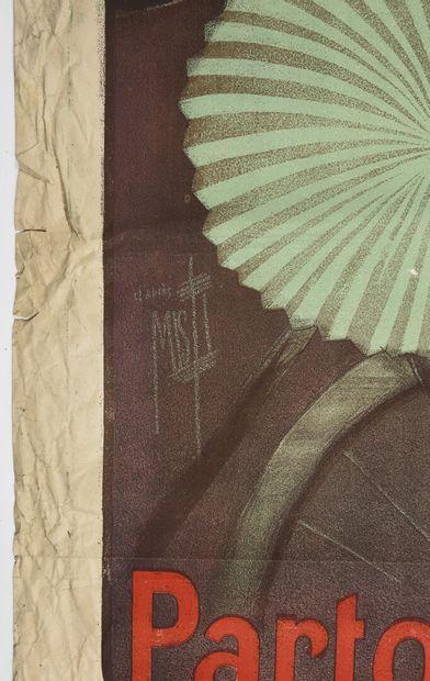 MISTI, Le Vélo, Camis  130 x 95 cm  (manques aux marges, froissures, déchirures...