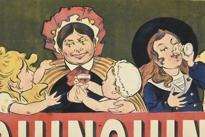 QUINQUINA DUBONNNET affiche double, (face)  100 x 69 cm (pour chaque affiche)  (rousseurs,...