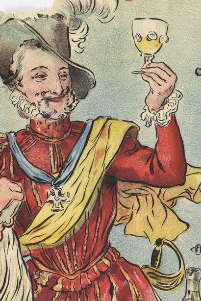 Armagnac, château Henri IV, Camis  Cachet  140 x 100 cm  (manque lettrage important,...