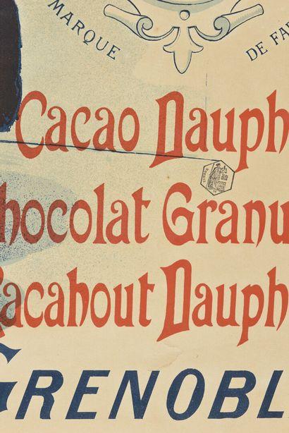 RAPP, Chocolat Dauphin à Grenoble,  Gerin  140 x 100 cm  (manque, déchirures, pliures...