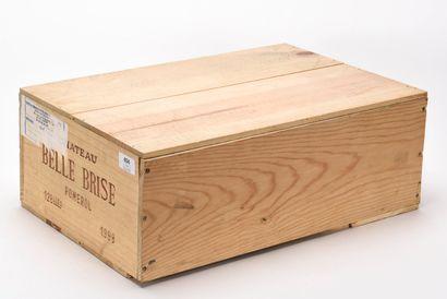 12 B CHÂTEAU BELLE BRISE (Caisse Bois d'origine...