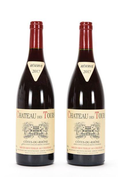 2 B CÔTES DU RHÔNE Rouge Château des Tours...