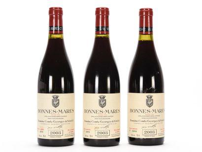 3 B BONNES-MARES (Grand Cru) (e.t.h. légères)...
