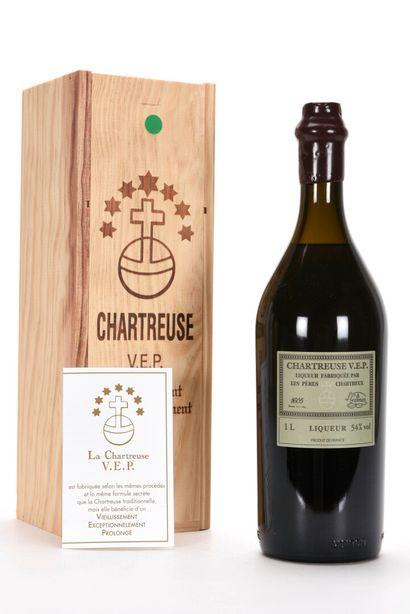 1 B CHARTREUSE VERTE V.E.P. 100 cl 54% (Caisse...