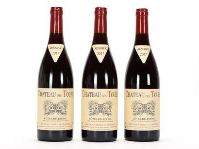 3 B CÔTES DU RHÔNE Rouge Château des Tours...
