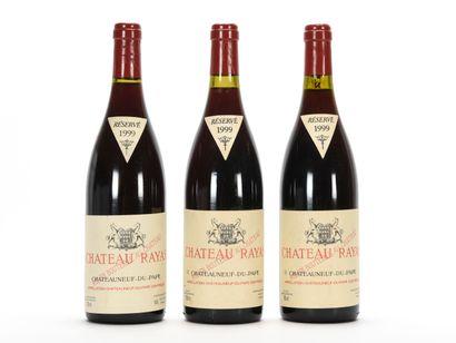 3 B CHÂTEAUNEUF DU PAPE Rouge (e.l.s.) Château Rayas 1999