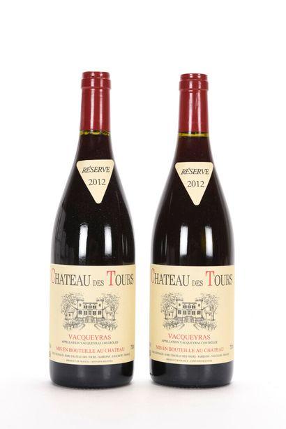 2 B VACQUEYRAS Château des Tours 2012