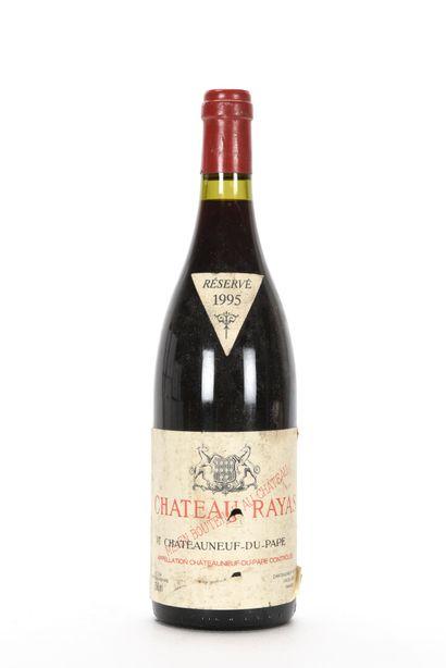 1 B CHÂTEAUNEUF DU PAPE Rouge (e.a; clm.s; c.a. côté) Chateau Rayas 1995