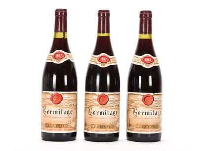 3 B HERMITAGE Rouge (e.l.a.) Guigal 1987
