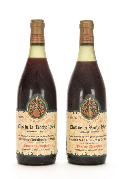 2 B CLOS DE LA ROCHE TASTEVINÉ (Grand Cru)...