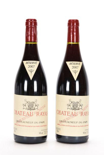 2 B CHÂTEAUNEUF DU PAPE Rouge Château Rayas...
