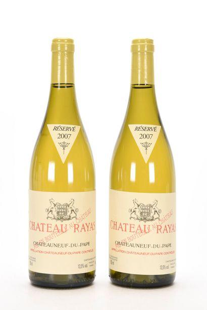 2 B CHÂTEAUNEUF DU PAPE Blanc Château Rayas...