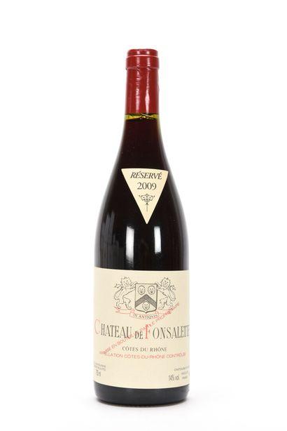 1 B CÔTES DU RHÔNE Rouge Château de Fonsalette...