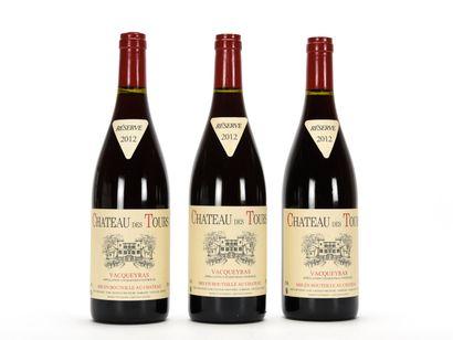 3 B VACQUEYRAS Château des Tours 2012   TVA récupérable pour les personnes assu...