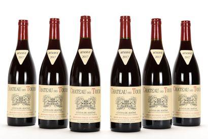 6 B CÔTES DU RHÔNE Rouge Château des Tours...