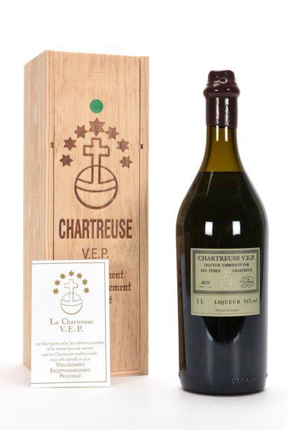 1 B CHARTREUSE VERTE V.E.P. 100 cl 55% (Caisse...