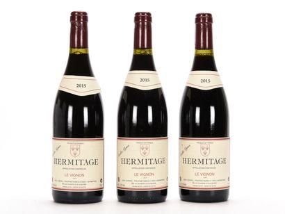 3 B HERMITAGE LE VIGNON Rouge (1 e.l.a.)...