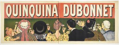 QUINQUINA DUBONNET, affiche double dos  100...