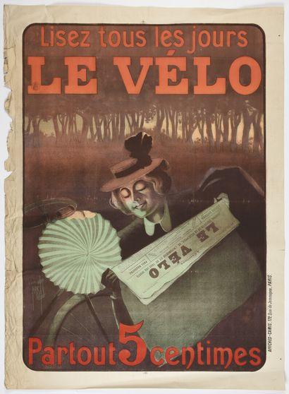 MISTI, Le Vélo, Camis  130 x 95 cm  (manques...