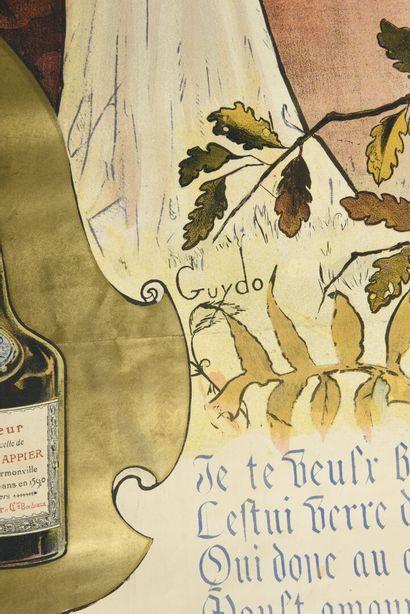 GUYDO, Liqueur Hanapier,  Camis,  130 x100 cm  (déchirures à l'image et à la ma...