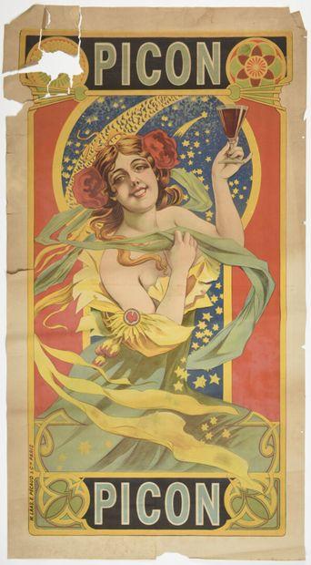 Picon, imp LAAS  150 x 80 cm  (manques, déchirures,...